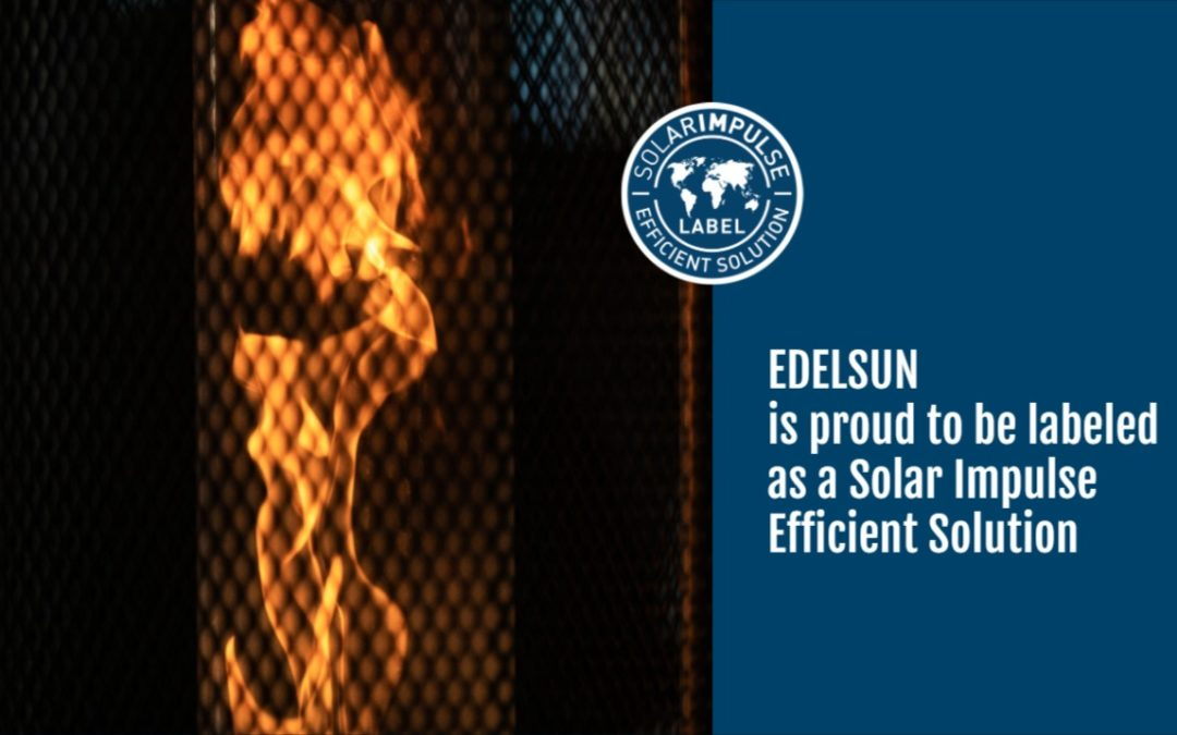 Edelsun retenu parmi les 1'000 solutions profitables pour l'environnement de la Fondation Solar Impulse